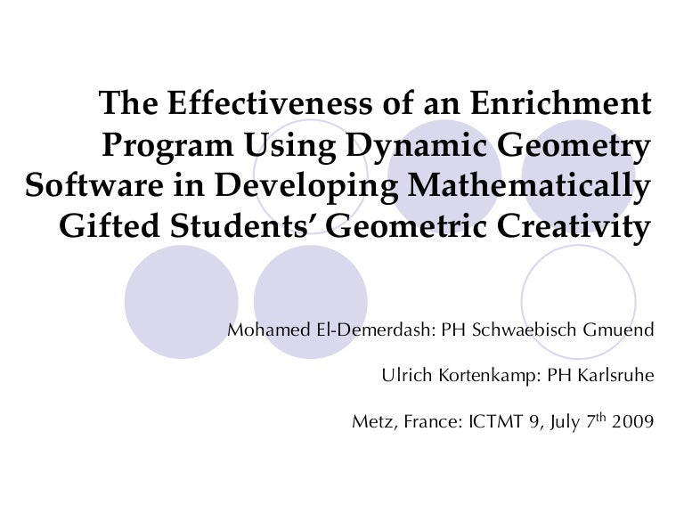 The Effectiveness of an Enrichment Program Using Dynamic