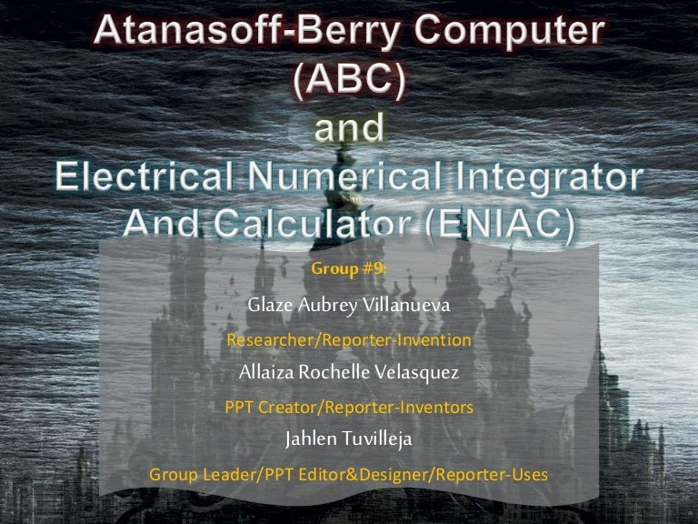 electrical numerical integrator and calculator