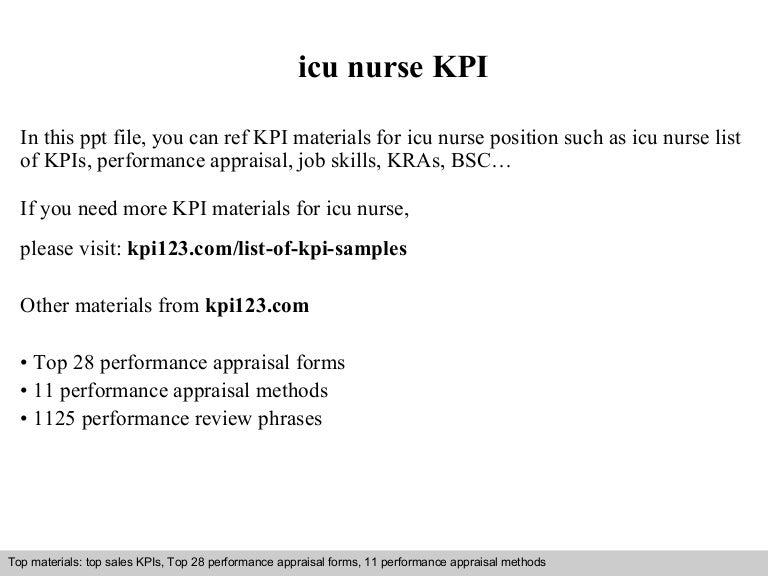 Icu nurse kpi – Icu Nurse Job Description