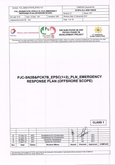 Id spa-all-2020-105230 rev.d emergency respon plan  (offshore scope)-31 dec 2013
