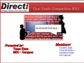 Directi Case Study Contest -  Team idate from MDI Gurgaon