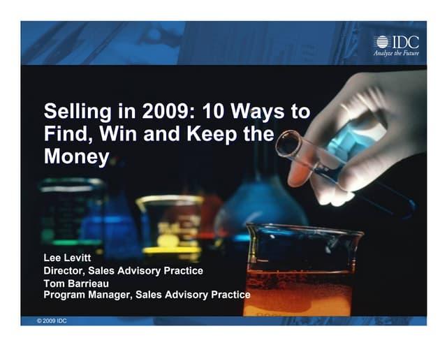 IDC 2009 Sales Barometer & Top Ten Predictions