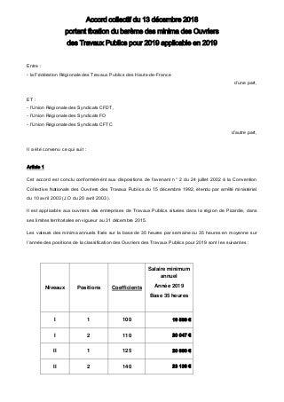 Idcc 1702 accord salaires picardie