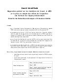 Idcc 454 accord de methode conditions de travail