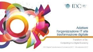 Adattare l'organizzazione IT alla trasformazione digitale