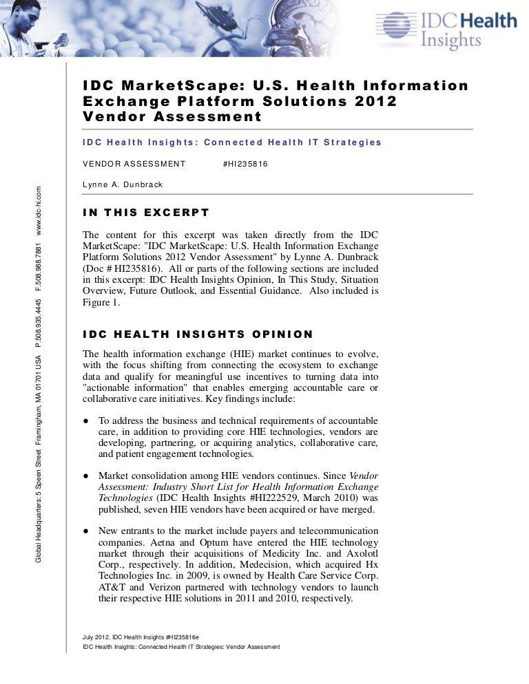 IDC MarketScape on InterSystems HealthShare
