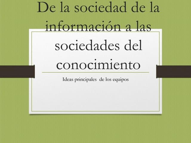 Ideas principales de todos español