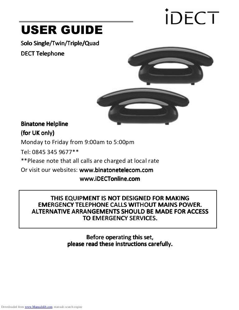 Triple digital cordless phone set icl answering machine -binatone.