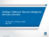 VeriSign iDefense Security Intelligence Services
