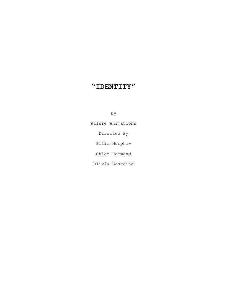 Identity Screenplay