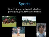 Argentina through teen eyes: Typical sports