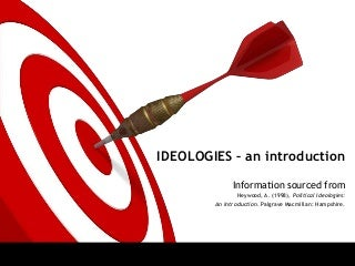 Ideologies - an introduction