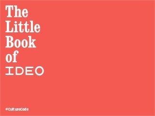 The Little Book of IDEO: Values