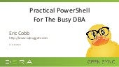 Geek Sync | Practical PowerShell For The Busy DBA