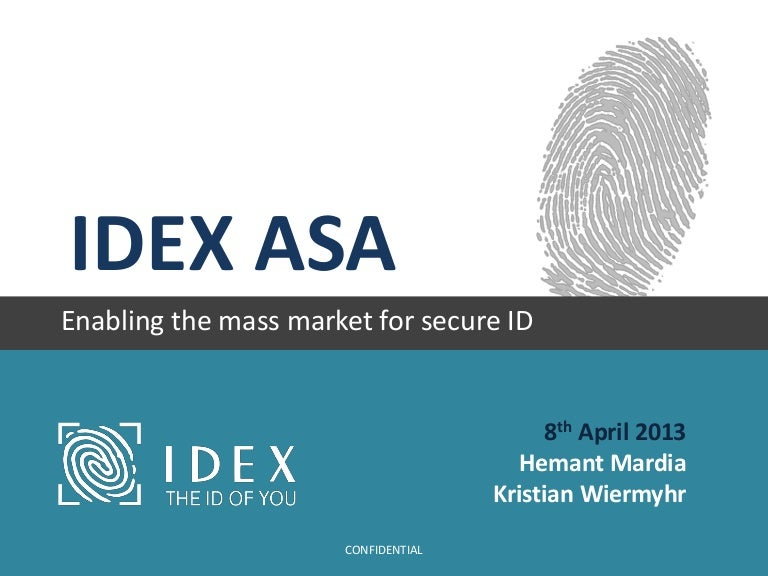 IDEX - Enabling the Mass Market for Secure ID
