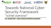 ID IGF 2016 - Infrastruktur 3 - Towards National Cyber Security Framework