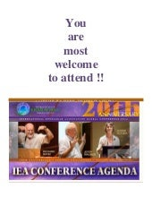 Program of the 2014 IEA Conference