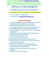 Download Final Year Project for MCA BCA BSc IT BE BTECH Diploma