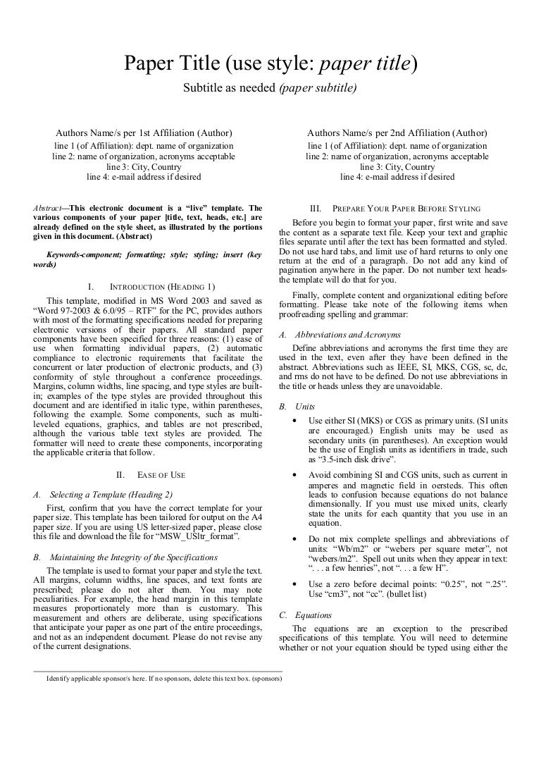 Ieee conference paper template word 2010 best paper 2017 how to make ieee format in ms word 2010 oshibori info pronofoot35fo Choice Image