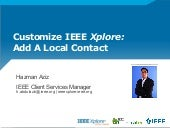 IEEE Xplore - You can now display local contact information on IEEE Xplore