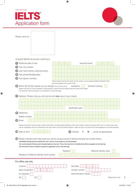 Ielts application form_2014