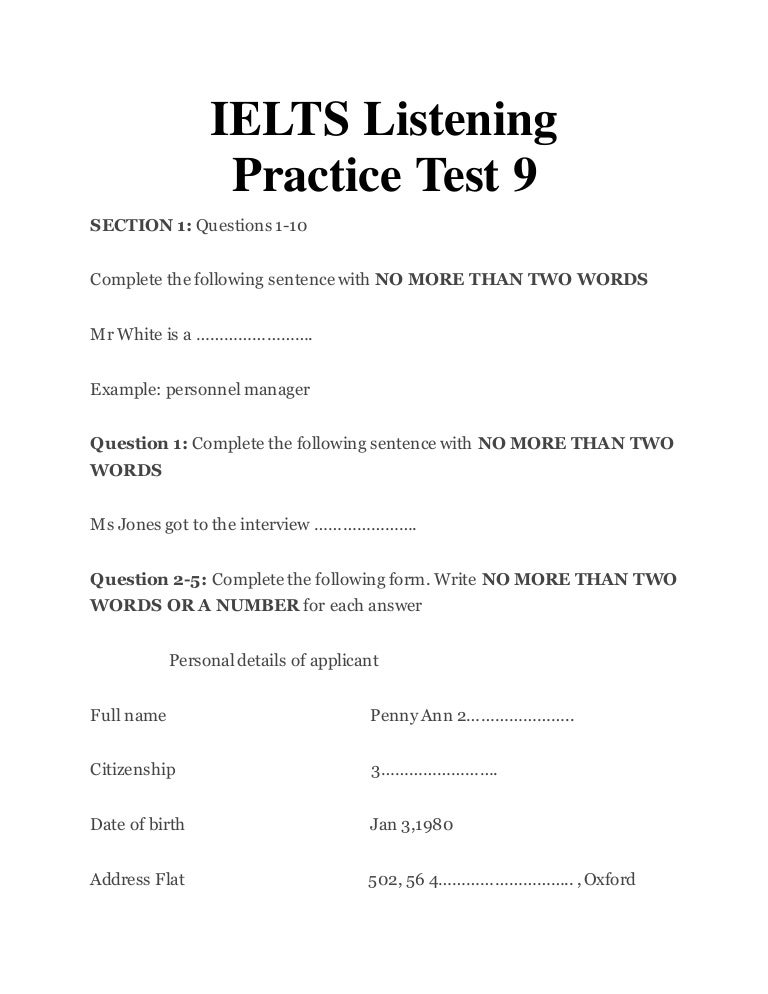 cambridge ielts 10 listening test 4 pdf