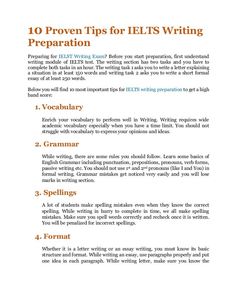 10 Proven Tips for IELTS Writing Preparation