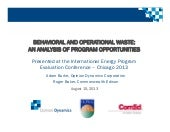 IEPEC_Behavioral and Operational Waste an Analysis of Program Opportunities_Burke