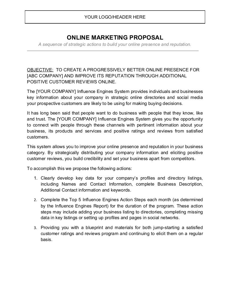 Ie proposal letter – Marketing Proposal Letter