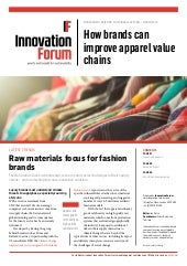Management Briefing on Sustainable Apparel