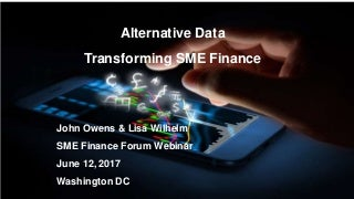 Alternative Data: Transforming SME Finance