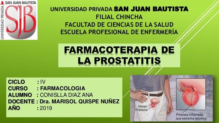 neumonía nosocomial y prostatitis bacteriana crónica