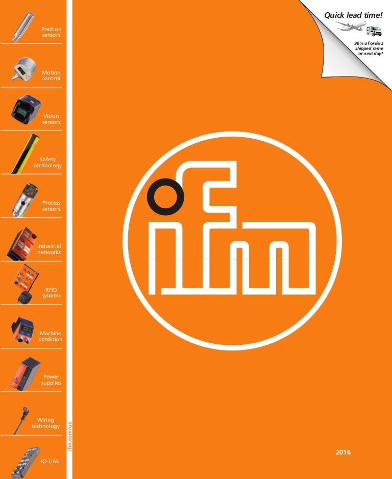 ifm Industrial Sensor Catalog on