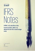 IFRS Notes: IFRIC 22 clarifies the transaction date to determine the exchange rate