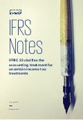 IFRS Notes: IFRIC 23 clarifies the accounting treatment for uncertain income tax treatments
