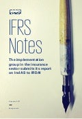 IFRS Notes: The implementation group in the insurance sector submits its report on Ind AS to IRDAI