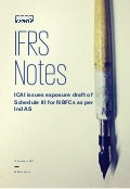 IFRS Notes: ICAI issues exposure draft of Schedule III for NBFCs as per Ind AS