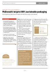 McDonald's targets 100% sustainable packaging