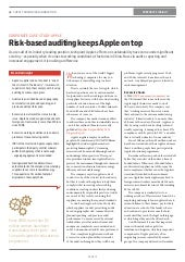 Risk-based auditing keeps Apple on top