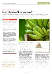 Is certification fit-for-purpose?