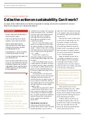 Collective action on sustainability. Can it work?