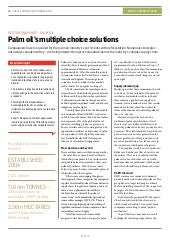 Palm oil's multiple choice solutions