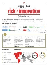 IF Supply Chain Risk & Innovation subscriptions