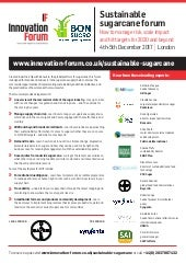Sustainable Sugar Cane Forum, December 4-5 2017