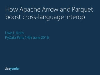 how apache arrow and parquet boost cross language interoperability