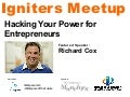 Hacking Your Power for Entrepreneurs with Richard Cox