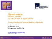 Social Media Governance - how it works in organisations