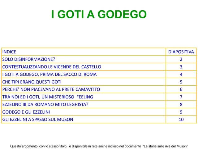 Il castello di Godego. Veneti, Goti, Masnadieri.