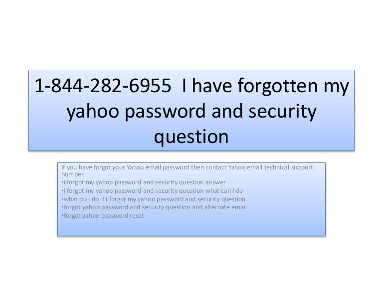 yahoo mail security question answer