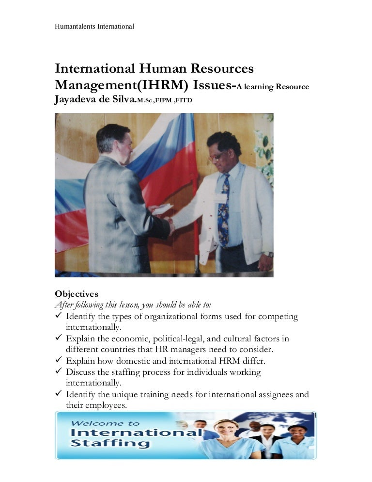 IHRM-Issues and Trends(Learning Resource)